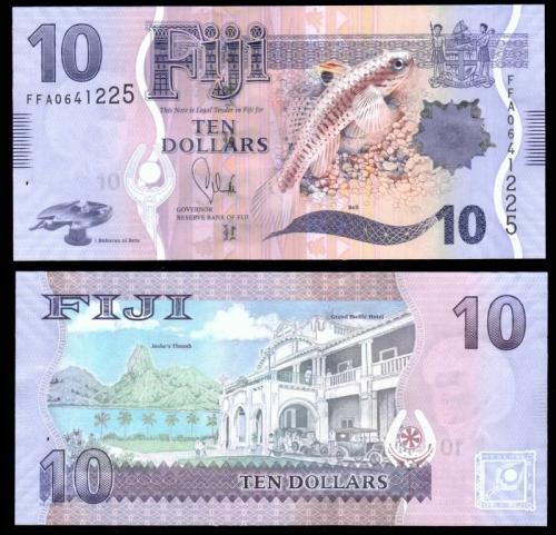 Фиджи 10 долларов 2012 года