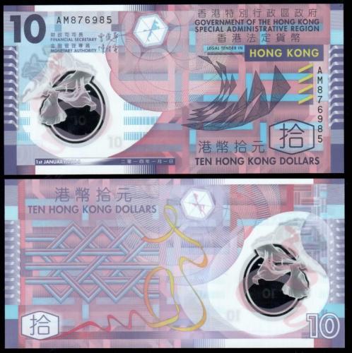 деньги банкноты гонконга