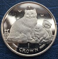 1 крона 2007 года Кошки Рэгдолл (Остров Мэн)