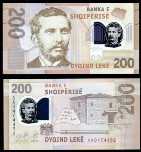 албания полимерная банкнота