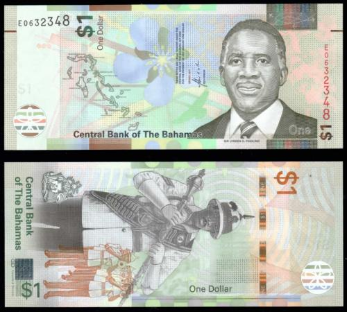 Багамские Острова 1 доллар 2017 Полимер