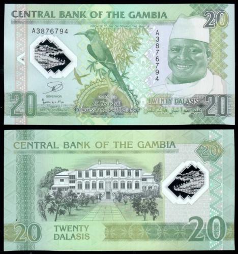 банкноты гамбии