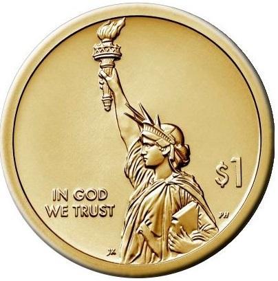 АКЦИЯ !!! США 1 Доллар 2019 Лампа Накаливания