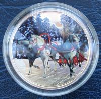 Токелау 1 доллар 2014 Русская Тройка