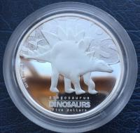Тувалу 5 долларов 2002 Стегозавр