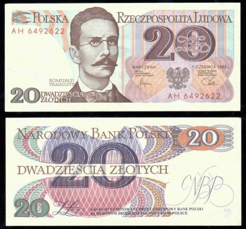 Польша 100 злотых 1982 года