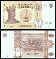 Молдавия 1 лей 2015 года