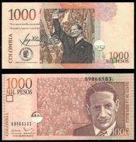 Колумбия 1000 песо 2015 года