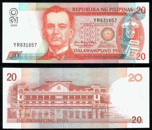 Филиппины 20 песо 2008 года