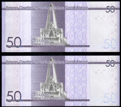 Доминикана 50 песо 2015 года
