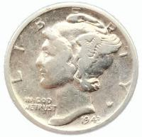 США 1 дайм (10 центов) 1943 года