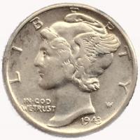 США 1 дайм (10 центов) 1929 года