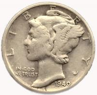 США 1 дайм (10 центов) 1940 года