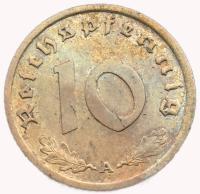 Германия 10 Пфеннигов 1939 года Рейх