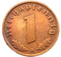 Германия 1 Пфенниг 1937 года Рейх