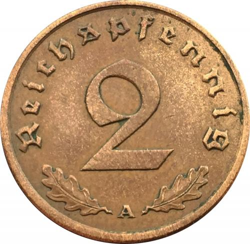Германия 2 Пфеннига 1938 года Рейх