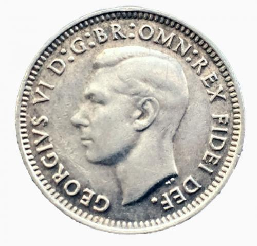 Австралия 3 пенса 1952 года