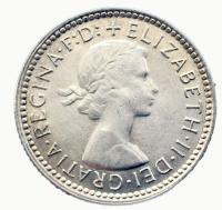Австралия 6 пенсов 1962 года
