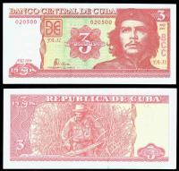 Куба 3 песо 2004 года Че Гевара