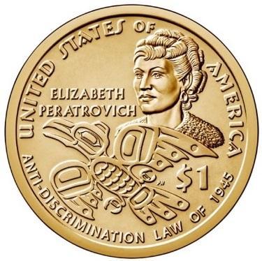 США 1 Доллар 2020 Элизабет Ператрович