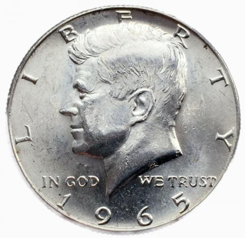 США 50 центов 1965 года