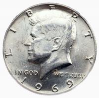 США 50 центов 1969 года