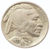 США 5 центов 1937 года