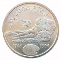 2000 песет 1996 года