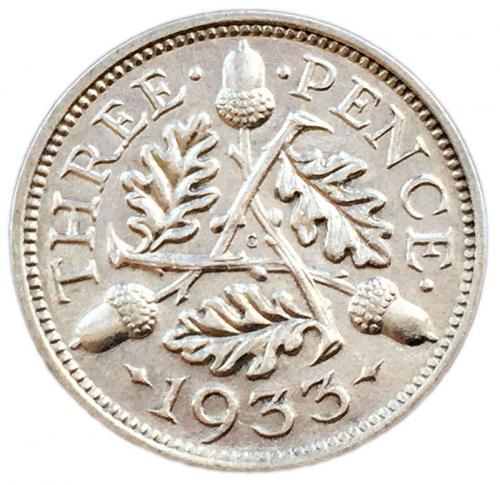 3 пенса 1933 года