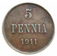 5 пенни 1911 года