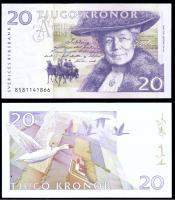Швеция 20 крон 1991-2007 года