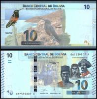 Боливия 10 боливиано 2018 года