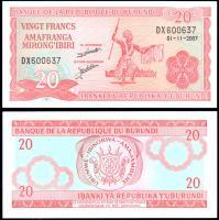 Бурунди 20 франков 2007 года
