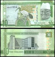 Гамбия 10 даласи 2015 года