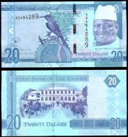 Гамбия 20 даласи 2015 года