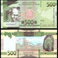 Гвинея 500 Франков 2018 года