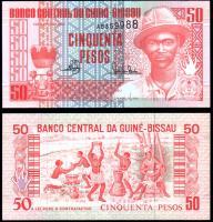 Гвинея-Бисау 50 песо 1990 года