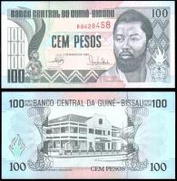 Гвинея-Бисау 100 песо 1990 года