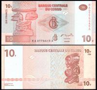 Конго 10 франков 2003 года