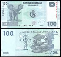 Конго 100 франков 2013 года