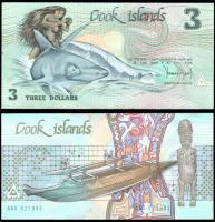 Острова Кука 3 доллара 1987-1992 года
