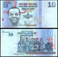 Свазиленд 10 эмалангени 2014 года