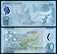 Соломоновы острова 40 долларов 2018 года Полимер