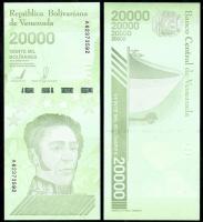 Венесуэла 20000 боливар 2019 года