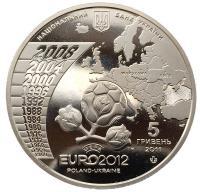5 гривен 2011 Чемпионат Европы по Футболу 2012
