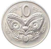 Новая Зеландия 10 центов 1971 года