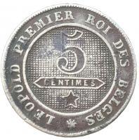 Бельгия 5 сантимов 1862 года