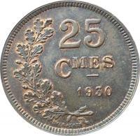 25 сантимов 1930 года