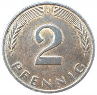 Германия 2 пфеннигов 1991 года