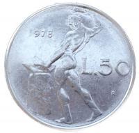 Италия 50 лир 1978 года